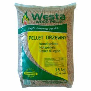Pellet drzewny liściasto-iglasty standard worek 15 kg